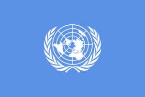 UN Flag to denote International news