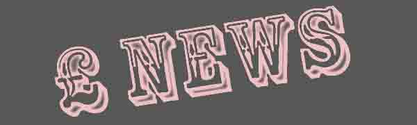 NEWS, the word in pink on a grey background