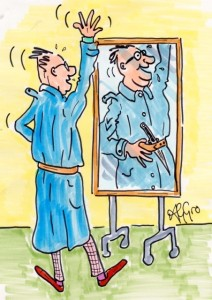 The casting mirror