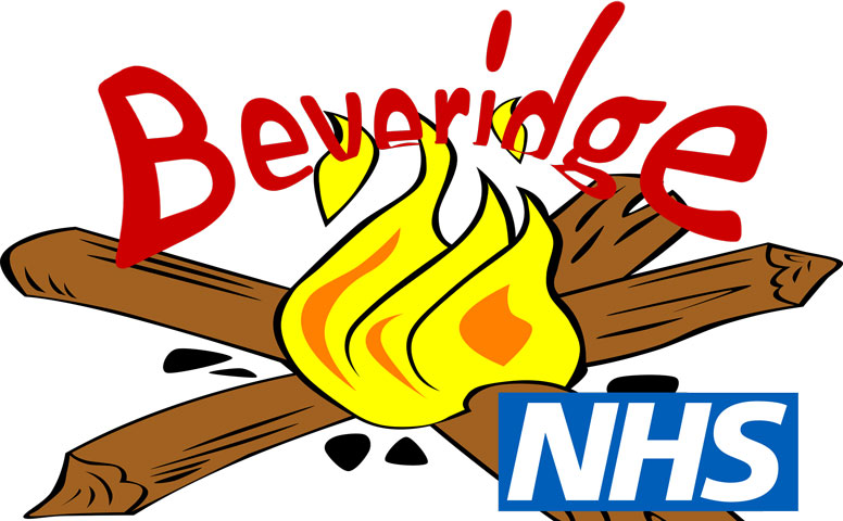Thumbnail Cartoon of a campfire labelled as NHS with Beveridge being burnt on top of if