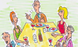 Thumbnail drawing of dinner party chin chin