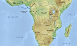 Map of Africa south of the Sahara